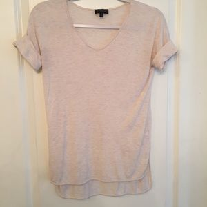 The limited burnout pink v-neck tee size xs